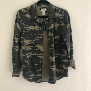 Forever 21 Camp Army Print Jacket